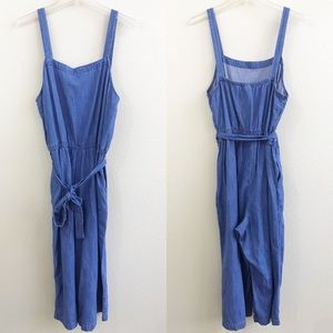 old navy denim jumpsuit size large